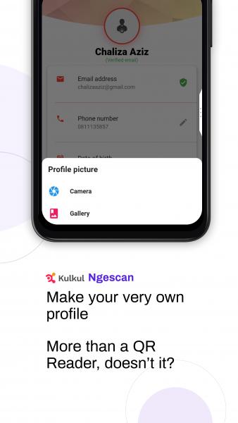 Unduh aplikasi scan kode QR
